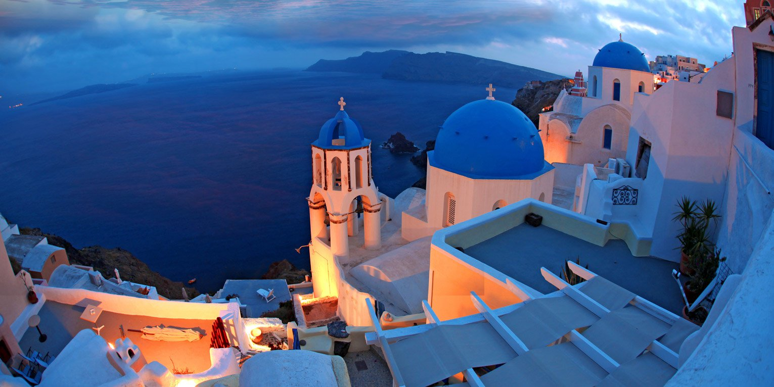Choose SantoriniCarHire.com for your car rental in Santorini and enjoy a beautiful sunset and sea view